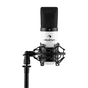 MIC-900WH USB Condenser Microphone White Cardioid Shock Mount