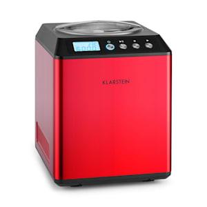Klarstein Vanilla Sky glassmaskin kompressor 2l rostfritt stål 180W röd