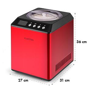 Vanilla Sky máquina de gelado compressor 2l 180W de aço inoxidável vermelho