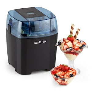 Creamberry Machine à glace Bac isotherme Machine à frozen yogourt 1,5L noir