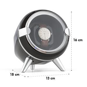 Sindelfingen Remontoir pour 1 montre Rotation droite & gauche -noir