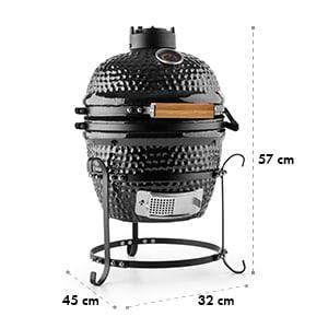 "Princesize Kamado grill en céramique 11"" BBQ - noir"