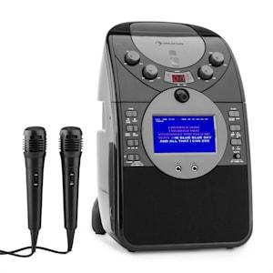 ScreenStar Karaokeanlage Kamera CD USB SD MP3 inkl. 2 x Mikrofon schwarz