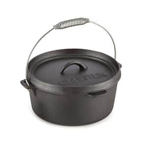 Hotrod 45 Olla de hierro Olla de BBQ 4,5 qt / 4 L Hierro fundido negro