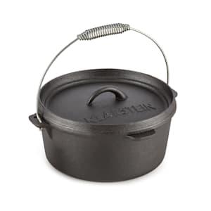 Hotrod 85 Olla de hierro Olla de BBQ 9 qt / 8,5 L Hierro fundido negro