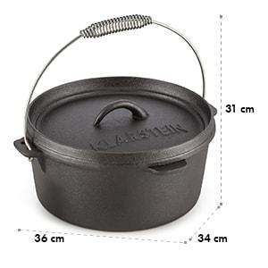 Hotrod 85 Dutch Oven BBQ Pot 9 qt / 8.5 Litre Cast Iron Black