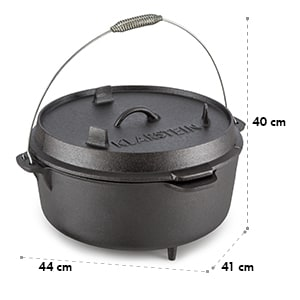 Hotrod 145 Dutch Oven BBQ Pot 12 qt / 11.4 Litre Cast Iron Black