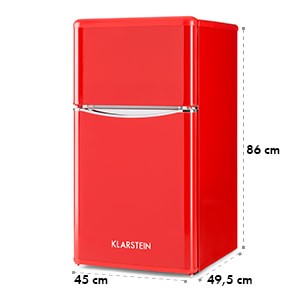 Monroe Red Refrigerator & Freezer Combination 61/24 l A+ Retro Lookred