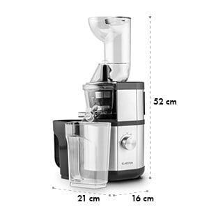 Fruitberry Extracteur de jus Slow Juicer sans BPA 400W 60T/min  Ø 8,5cm -argent