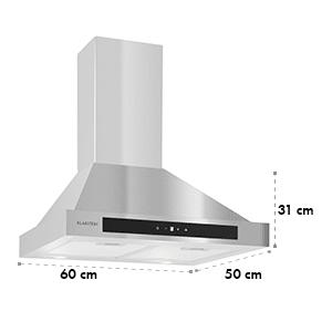 Klarstein Zelda hota din oțel inoxidabil 60cm montata pe perete 620 m³ / h Touch temporizator