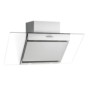 KLARSTEIN Zola, hotă de bucătărie cu spațiu pentru cap, 90 cm, 635 mc / h, oțel inoxidabil, montaj pe perete, sticlă