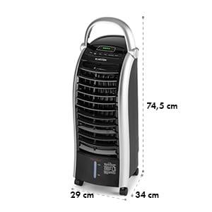 Maxfresh Ventilador Climatizador evaporativo Humidificador 444m³/h 6l 55W Negro