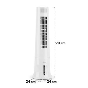 Highrise, ochladzovač vzduchu, ventilátor, zvlhčovač vzduchu, 40 W, 2.5 l, chladiaca náplň, biely
