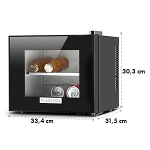 Klarstein Frosty mini hűtő, 10 liter, 65 W, B osztály, fekete