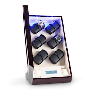 Klingenthal Remontoir luxe 12 montres LED tactile - acajou