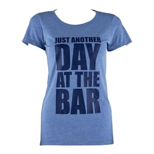 Trainings-T-Shirt für Frauen Size S Blau Tricolor