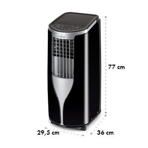 New Breeze 7, mobilná klimatizácia, 2.6 kW, trieda energetickej účinnosti A, diaľkový ovládač, čierna