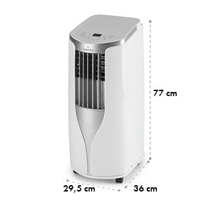 New Breeze 9, mobilná klimatizácia, 2.7 kW, trieda energetickej účinnosti A, diaľkový ovládač, biela