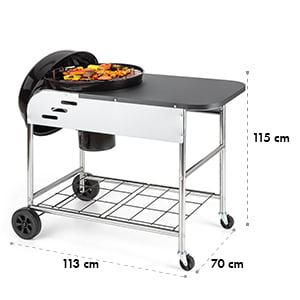 Meatpacker XXL Barbecue au charbon de bois BBQ Smoker Ø 54cm acier