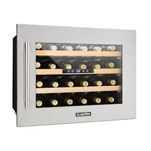 Vinsider 24D, вграден хладилник за вино, 2 хладилни зони, 24 бутилки, неръждаема стомана