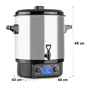 Biggie Digital Fully Automatic Cooker Cooking Pot 27l 2000 W Stainless Steel