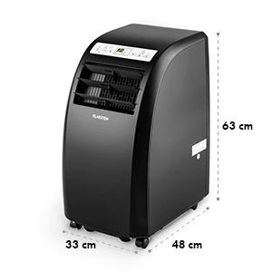 Metrobreeze Rom Climatiseur mobile 10000 BTU/3,0 kW CEE A+ noir