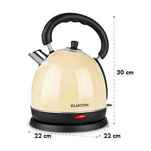 Teatime Bouilloire théière 1850-2200W 1,8 litres, inox - crème