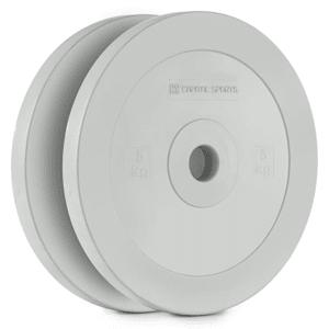 Methoder Technikscheibe Gewichtsplatten Gummi Paar 5 kg grau
