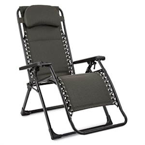 California Green Recliner Garden Chair FoldableUpholstered Checked Pattern