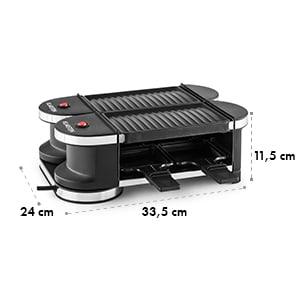 Tenderloin Mini Raclette-Grill Grelhador Eléctrico 2 Chapas 360º 600W