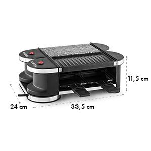 Tenderloin Minigrill- raclette 600W 360° 1 plaque grill et 1 plaque pierre