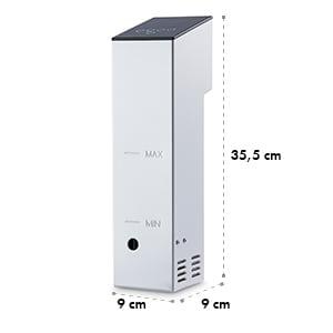 Klarstein Tastemaker Compact vákuumos főzőkészülék , Sous-Vide főző, nemeacél, 12 l/perc, pumpa
