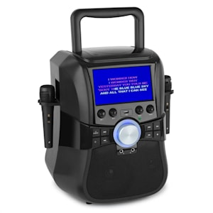 "Stage Hero mobile Karaoke-Anlage Bluetooth DVD 7"" TFT 2 Mikros Akku"