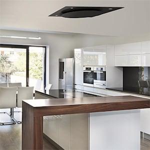 KLARSTEIN SECRET SERVICE, hotă de tavan, 220 W, tactil, sticlă, LED