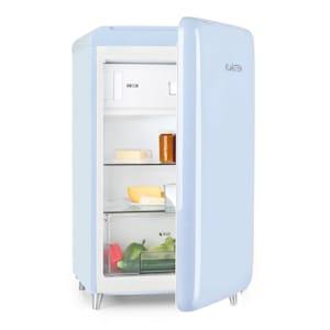 Frigorífico PopArt Retro  design retro arredondado   volume: 118 litros  congelador: 13 litros  temperatura regulável