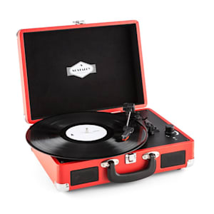 Peggy Sue Retro-Plattenspieler Vinyl LP USB Line Out rot