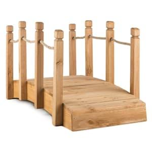 Rialto puente de jardín puente decorativo 58x58x122cm madera maciza