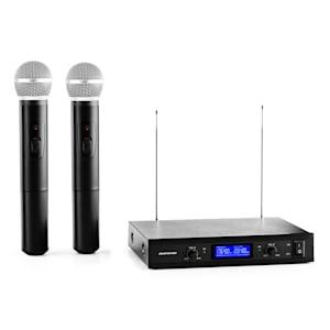 VHF-400 Duo1 2-Kanal VHF-Funkmikrofon-Set 1x Empfänger + 2x Handmikrofon