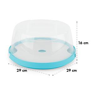 Boîte de transport à gâteaux cloche transparente cupcakes Ø26cm -bleu