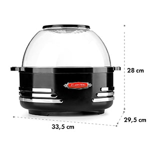Couchpotato Popcornmaschine elektrischer Popcorn-Bereiter schwarz