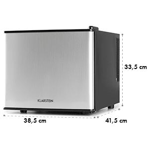 Klarstein titkos rejtekhely, mini hűtőgép, minibár, 17 liter, 50W, A+, ezüst