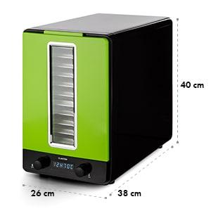 Klarstein Fruitcube, čierna/zelená, sušička, 550 W, 10 poschodí, dehydrátor