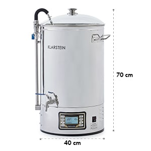 Mundschenk Mash Tun Mash Kettle Beer Brewing Set 2500W 30l Stainless Steel
