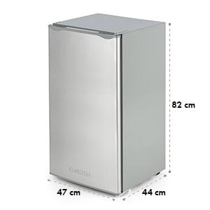 Klarstein Alleinversorger Hladilnik 90l, Razred A +, 2 nadstropji zamrzovalnik, nerjaveče jeklo