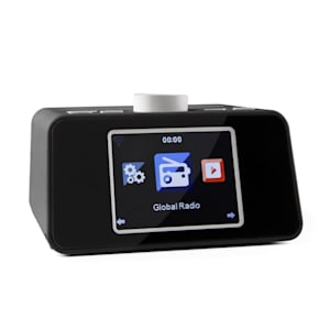 "i-snooze Internet Radio WLAN USB AUX Display TFT a colori da 3,2"" nero"
