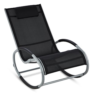 Retiro Swinging Rocking Armchair Aluminum Polyester black
