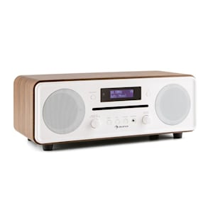 Melodia CD DAB + / FM Desktop Radio CD Player Bluetooth Alarm Snooze Walnut