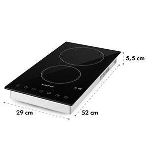 VariCook Domino sklokeramická varná platňa halogénová zabudovateľná varná doska 3000W