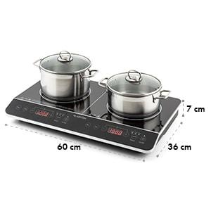 VariCook Slim Plaque de cuisson double à induction tactile à minuterie 3500 W 240°