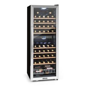 Vinamour 54 Duo Weinkühlschrank Weinkühler | 2 Zonen | Volumen: 148 Liter  | 54 Flaschen | Temperatur: 5 bis 18 °C | für Rot- und Weißwein | LED-Innenbeleuchtung | Touch-Display